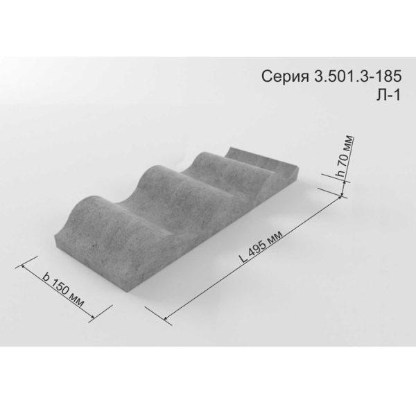 Форма для блока Лотка Л-1 3.501.3-185.03
